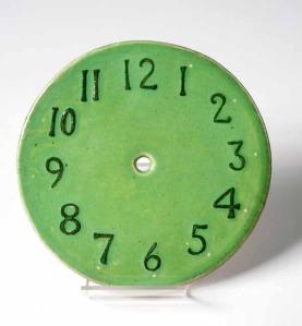 Ruskin Pottery Clock Face (Soufflé Glaze)