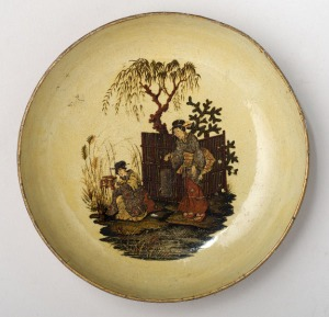 Japanned ware dish