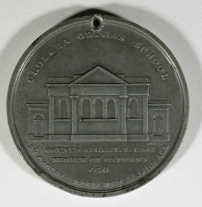 Medal commemorating the opening of the Bilston Chlorea Orphan School, BIEPH140, 1833